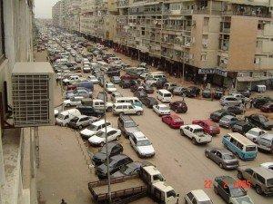 Vista de la ciudad de Luanda, Angola