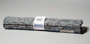 """Alfrombras marca Nudie, hechas con pantalones reciclados. """"Guilt free status"""""""