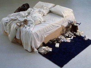 La obra 'My Bed' (1998), de la artista británica Tracy Emin. Foto: EFE