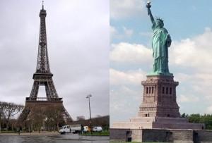 Ciudades muy distintas como París y Nueva York, funcionan sin embargo de manera parecida.