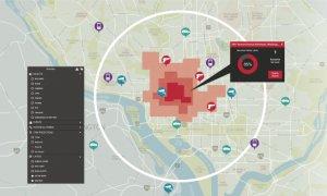 PCA de Hitachi se sirve de una interfaz de mapa con códigos de colores