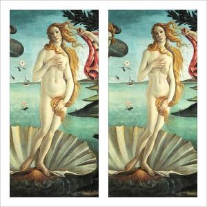 """La artista italiana Anna """"Utopia"""" Giordano (Annautopiagiordano.it), ella misma también modelo, ha logrado remover conciencias con su impactante proyecto Venus, en el que ha confeccionado versiones de cuadros clásicos en los que ella ha adelgazado a sus protagonistas principales, como por ejemplo la Venus de Botticelli"""