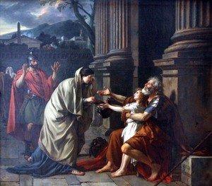 """""""Bélisaire demandant l'aumône"""". Jacques-Louis David"""
