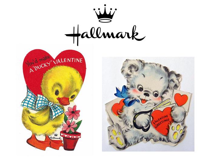 Tarjetas vintage para el día de los enamorados. Hallmark